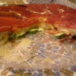 Torta di peperoni arrosto ripiena