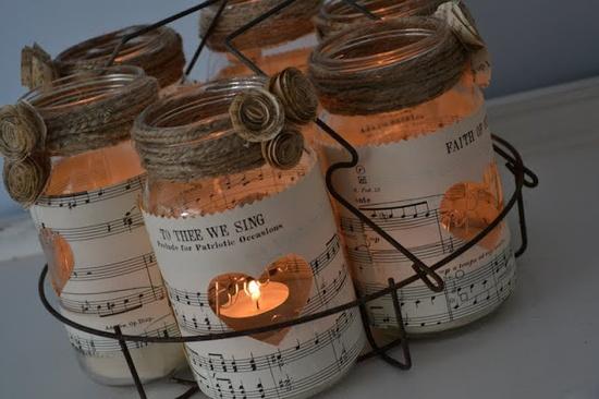 Decoupage su bottiglie di vetro le ricette di petalina - Barattoli vetro decorati ...
