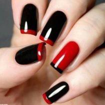 Una-nail-art-realizzata-con-smalto-bordeaux