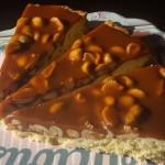 Torta arachidi e caramello